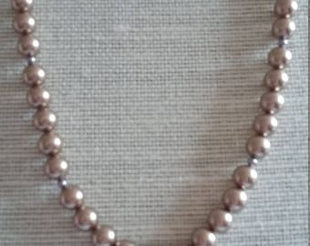 SALE: Swarovski Bronze Pearl Necklace