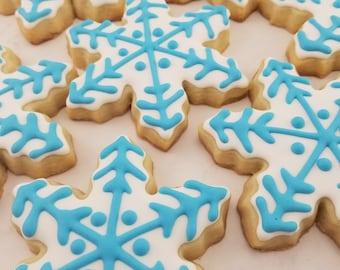 Snowflake Sugar Cookies | Christmas Cookies | Winter Cookies