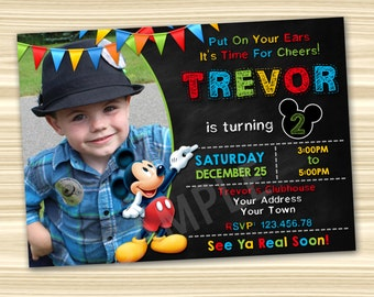 Mickey Mouse Invitations Mickey Mouse Party Invitation