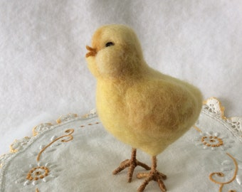 Baby Chick Needle Felt Wool Country Home Decor