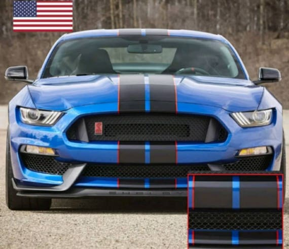 Black Mustang Silvers: 2015 2016 2017 2018 Ford Mustang Racing Rally Stripes Le Mans