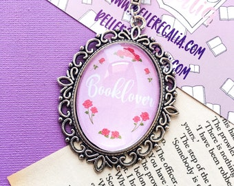 Booklover necklace - bookish necklace - bookish jewelry - booklover jewellery - gift for book lover - pink book necklace - bookish gift