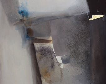 Abstract Mixed media, Contemporary Painting / Meditative, Original Art, Modern, Contemporary Art / Minimal / Black and White