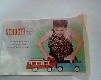 Vintage Structo toy ad