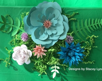 DEPOSIT Paper Flower Table Decor | Paper Flower Wedding Decor | Flower Backdrop | Flower Photo Props | DEPOSIT ONLY