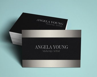 Makeup Artist Business Card Template Modern Business Card - Makeup artist business card template