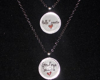 Doctor Who inspired River Song Quotes, Image, Pendant, Necklaces, 25mm