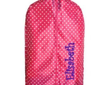 MONOGRAMMED GARMENT BAG, Dancers garment bag, kids travel bag, girls travel bag, costume garment bag, tutu bag, dust cover, suit bag