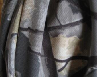 Gray & Tan Camoflauge Leaves Infinity Scarf
