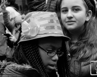B&W #Photograph, #resist, #shepersisted, girls, New York, feminist, photo print, wall art, home decor, protest, All Sizes, womens march