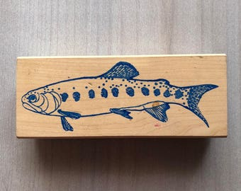 Big Fish Trout Rubber Stamp