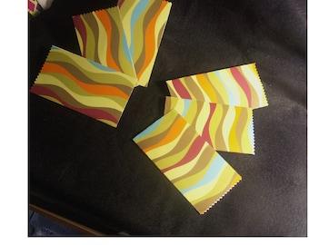 Pockets - multicolored - designer gift handmade set of 6