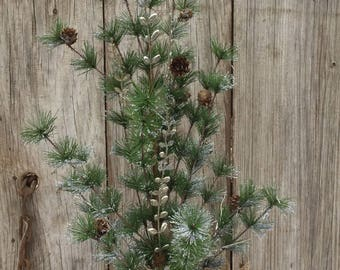 Hokiday Pine Tree With Silver Aceents