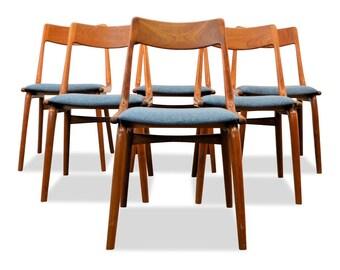 Vintage Alfred Christensen teak Dining chairs (6)