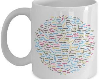leader positive affirmation coffee lover mug