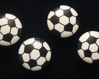 Set of 8 - SOCCER BALLS - SPORTS Drawer Knobs
