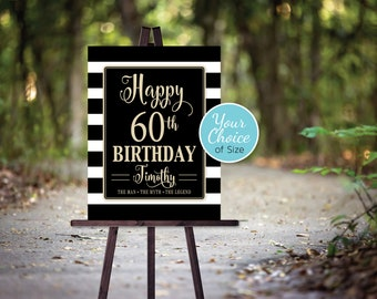Man's 40th 50th 60th or Any Age Birthday Party Poster | The Man The Myth The Legend | Printable | Personalized | DIGITAL PRINTABLE FILES