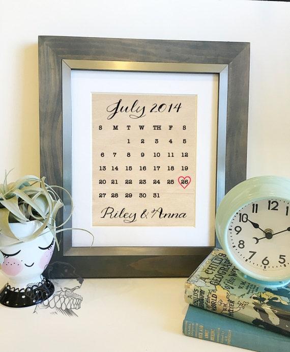 wedding anniversary calendar gifts