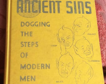 VINTAGE BOOK 1954, 5 Ancient Sins, kitschy,  humerous, dogging the steps of modern man