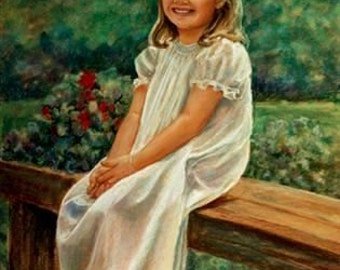 """Just Kids, 24"""" x 36"""" full body pastel portrait of your child, original art, commisssioned art,  by professional artist M Theresa Brown USA"""