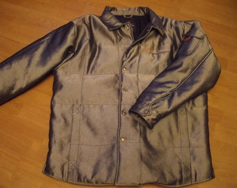 KARL KANI jacket, vintage shiny Kani jacket, 90s hip-hop clothing, 1990s hip hop windbreaker, OG, gangsta rap, sewn, size xl rare