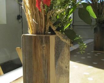 "Flower Barn-wood 10"" Vases for the Holidays"
