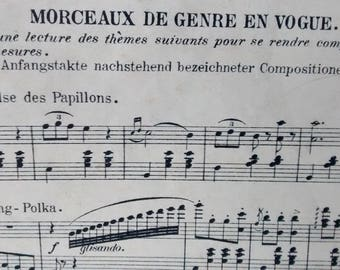 Two wonderful French musical calendars from the 1800s