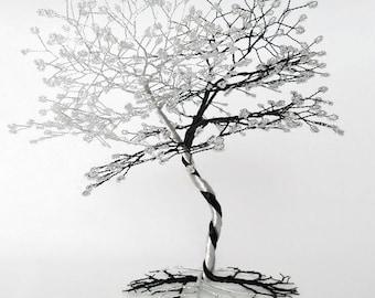 Wire Tree Sculpture - Wedding Cake Topper - Bonsai Tree