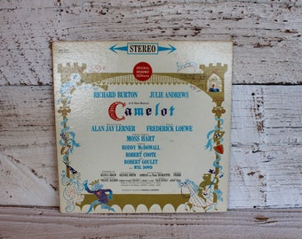 Vintage Soundtrack Camelot Richard Burton Julie Andrews Broadway Play Vintage Vinyl Soundtrack LP 60s Era Gifts for Music Lovers Gift USA