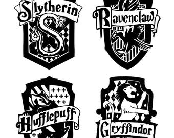 Harry Potter House Crest Monogram Addition for Dog Bandana- Matte & HOLO Options