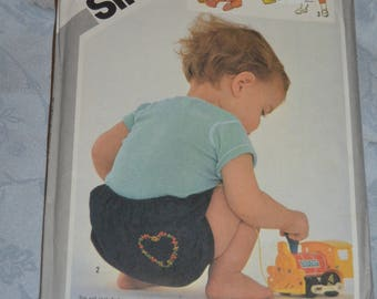 Simplicity 5558  Babies Layette...Transfers for Embroidery and Applique Included Sewing Pattern - UNCUT Size 6 Months