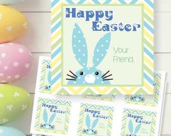 Happy Easter Bunny Gift Tags Printable Digital Download