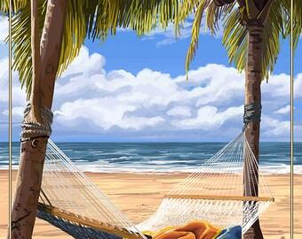 Bahia Honda, Florida Keys - Hammock Scene (Art Prints available in multiple sizes)