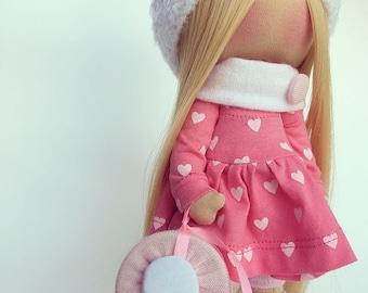 baby doll gift handmade interior doll pink