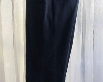 Vintage 90's Haggar black cotton casual pants 34W