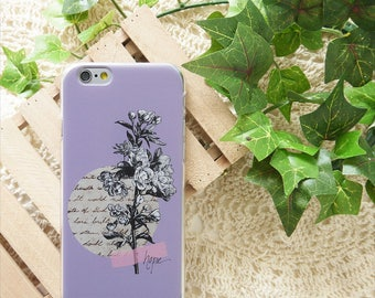 Purple Rose Flower iPhone 8 Plus case iPhone X case iPhone 7 case iPhone 6S case Samsung Galaxy Note 8 case Samsung Galaxy S7 edge case