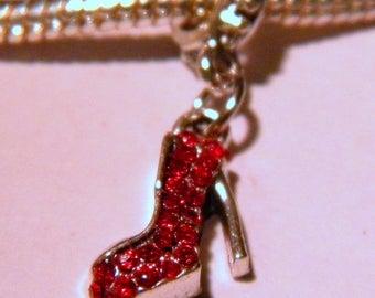 Pearl Libra pendant Shamballa European-Red - heel 27 mm - D64