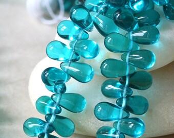 11x6mm Large Glass Teardrop Beads - Czech Glass Beads - Tear Drop Beads - Jewelry  Making Supply - 6x11mm - CHOOSE AMOUNT
