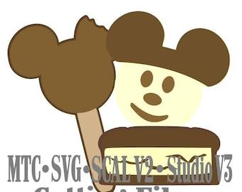 SVG Amusement Park Cut File Embellishment Mouse Treats #02 Digital SCAL MTC Silhouette Cricut Cutting File