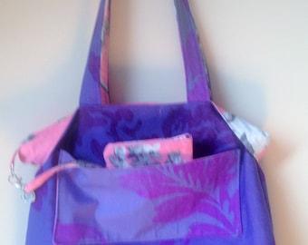 Designer Print Reversible Tote Bag Handmade