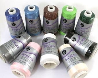 1 Cone Sewing Thread, Surelock Overlock Thread, Serger Sewing Thread, 100% Polyester Thread, Coats & Clark, 3000 Yds, Sewing Machine Cones