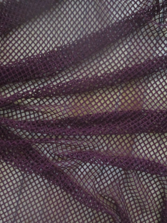 Dark Red Stretch Mesh Fabric By The Yard Burgundy Wine