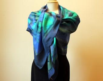 Handpainted silk shawl