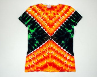 Women's Small Fiery X Tie Dye T-Shirt