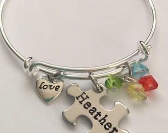 Autism bracelet- personalized bracelet-autism awareness bracelet