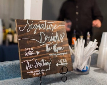 Signature Drinks Wedding Sign
