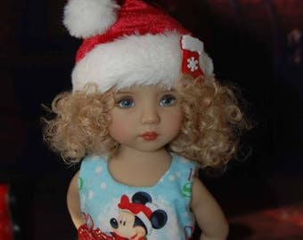 OOAK Hohoho Let It Snow dress for 14 inch dolls like Little Darling and Avery