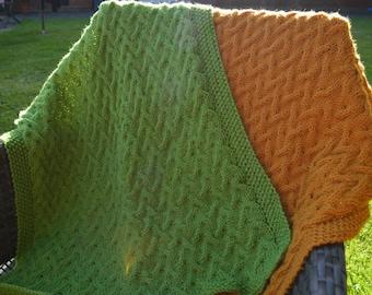 In the Garden ~ Baby Blanket ~Knitting pattern