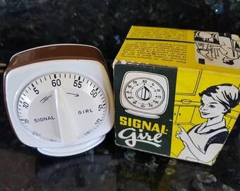 Signal Girl German made kitchen timer 1960S