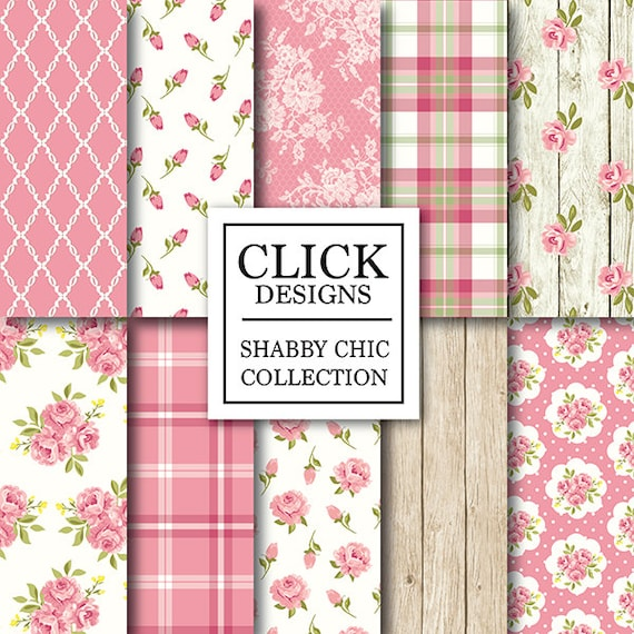 shabby chic digital paper shabby chic pink floral rh etsy com  shabby chic collection alice tx